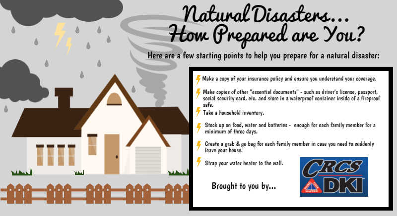 Natural Disasters… How Prepared are You?